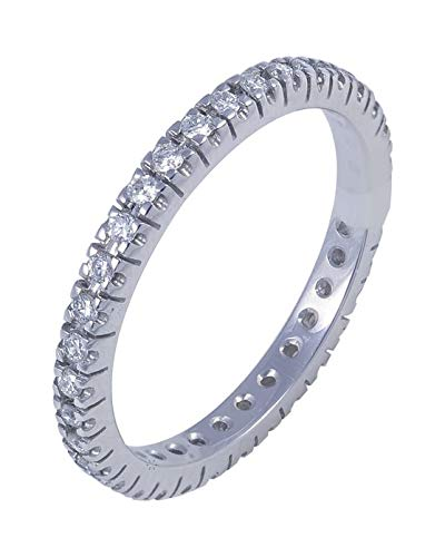 Anillo Eternity de Oro Blanco de 18 quilates con Diamantes SAVVIDIS