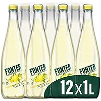 Fonter Agua Natural con zumo de limón y lima - pack de 12 x 1L