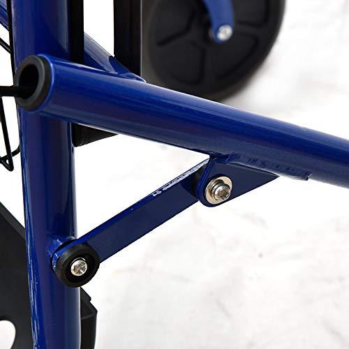 41vyGwHkfmL. SL500  - Rollator de acero plegable azul – Andador para personas mayores con 4 ruedas, asiento y frenos