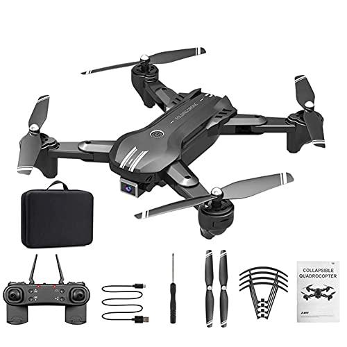 JJDSN Drone con cámara, FPV WiFi Plegable 90deg;Cámara Gran Angular 4K HD, Modo sin Cabeza, trayectoria de Vuelo, retención de altitud, para niños, Adultos y Principiantes, 2 baterías modulares
