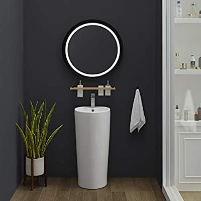 Swiss Madison Well Made Forever SM-PS307 Monaco Pedestal Sink, Glossy White