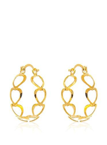 Córdoba Jewels | in Goldfilled Gold 14/20Laminat Design Ohrringe Kreolen Herz Goldfilled
