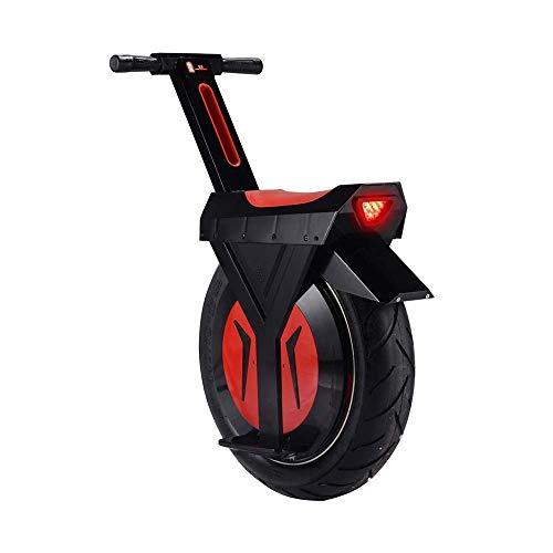 CTO Rollstuhl Elektrisches Einrad Schwarz, Einrad Roller mit Bluetooth-Lautsprecher, Unisex Adult, 17 '60V / 500W Monowheel Schubkarre Skateboard,90KM