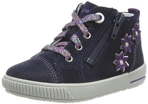 Superfit Baby Mädchen MOPPY Sneaker, Blau (Blau/Lila 80), 22 EU
