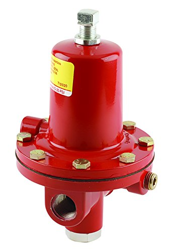"Emerson-Fisher LP-Gas Equipment, 64-35, 1/2"" FNPT Aluminum, High Pressure Regulator with Relief, 5 - 35 PSI, UL Listed"
