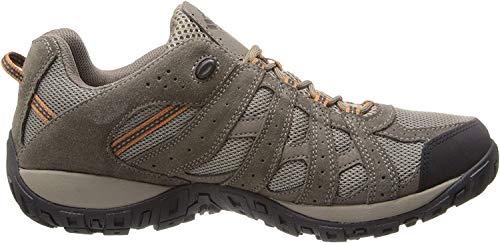 Columbia Men's Redmond Waterproof Hiking Shoe, Pebble, Dark Ginger, 8 D US