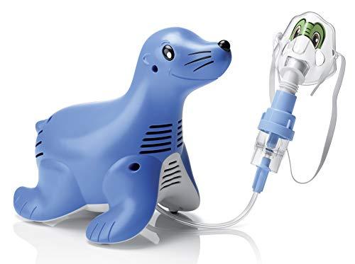 Philips Respironics Sami der Seehund Kompressor-Verneblersystem mit wiederverwendbarem SideStream -Vernebler mit Schlauch, Tucker die Schildkröte Maske, 5 Ersatzfiltern und Tragetasche, HH1304/00