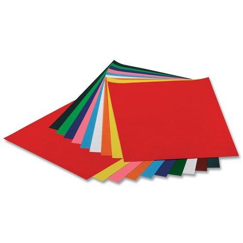 Buntpapier gummiert 35x50cm 50 Blatt farbig sortiert