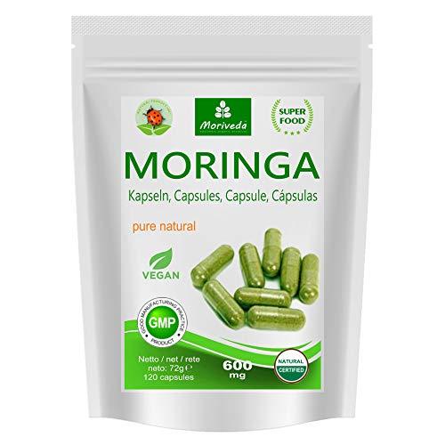 MoriVeda® - 120 Moringa capsules 600mg o Moringa Energia compresse 950mg - Oleifera, vegan,...