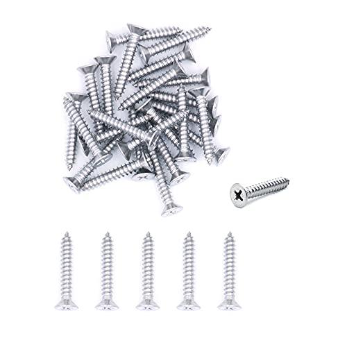 Tornillos autorroscantes de acero inoxidable NUZAMAS 4G x 30 304, 500 unidades, tornillos de cabeza avellanada en miniatura, tornillos autorroscantes y tornillos para madera (ST2.9 x 30)