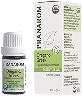 Oregano, Greek 100 Organic Essential Oil (.17 Fluid Ounces)