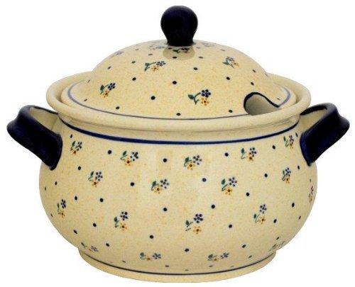 Original Bunzlauer Keramik Suppenterrine 3,0 Liter im Dekor 111