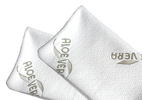 MaxxGoods Aloe Vera Doppelpack Kissenbezug für Reisekissen - Hautfreundlich und antiallergisch - 24 x 40 cm
