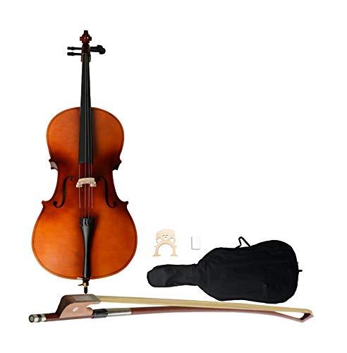 Portable and Durable Beginners Cello Adult Cello Instrument Student Cello 4/4 Acoustic Cello Case...