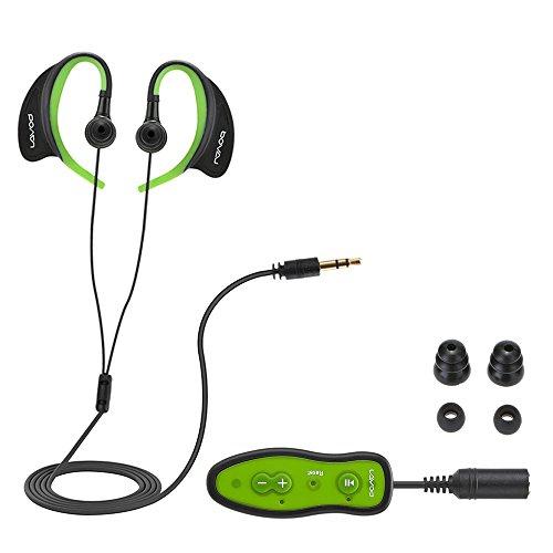 docooler Schwimmen MP3 Player IPX8 Wasserdicht Music Player mit Kopfhörer Clip 8GB Speicher für Schwimmen Rennen Tauchen Radfahren
