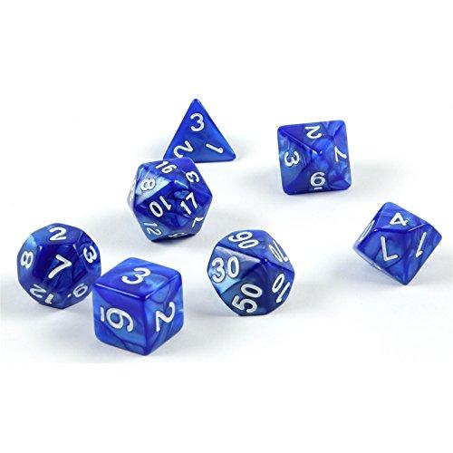 Shibby 7 cubi poledrici per giochi di ruolo e tablet in blu con sacchetto 60014264
