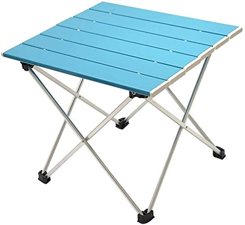 QYYL Camping Table, Outdoor Folding Table, Multi-Purpose Foldable Garden Table, Portable Camping Table, for Outdoor, Picnic, Cooking, Beach, Hiking, Fishing (Blue,Big)