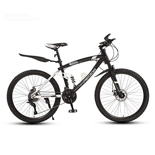 LJLYL Bicicleta de montaña para Hombres y Mujeres, suspensión Completa, Marco de Cola Suave de Acero con Alto Contenido de Carbono, Freno de Disco Doble