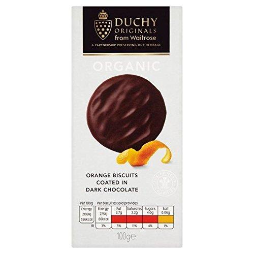 Duchy from Waitrose Ducato Organico Cioccolato Fondente Biscotti Arancia 100g (Confezione da 2)