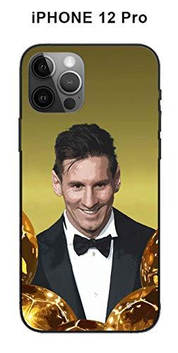 Carcasa para iPhone 12 Pro, diseño de Messi con Globos de Oro
