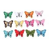 Healifty 12 Piezas Parches de Animales Parches de Mariposa Sombrero Disfraz Bolsa Ropa Apliques Patchwork Pegatinas Diy Apliques Manualidades Suministros de Arte para Suéteres Ropa