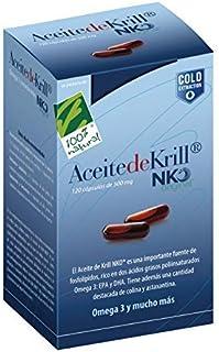100 Natural Aceite Krill NKO Caja, 120 Cápsulas de 500