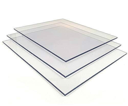 Planchas de policarbonato de 6,0 mm, protección UV, transparentes, planchas sólidas (6,0 mm, 1510 x 680 mm)