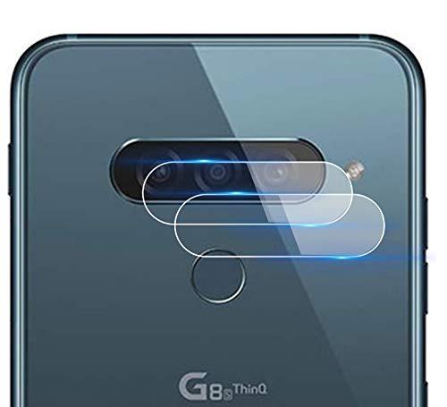 NOKOER Protector Cámara para LG G8s ThinQ, [2 Pack] Protector de Pantalla Cámara, 2.5D Película de Protección de Vidrio Templado Resistente a Los Arañazos [Protege la Cámara Trasera] - Transparente