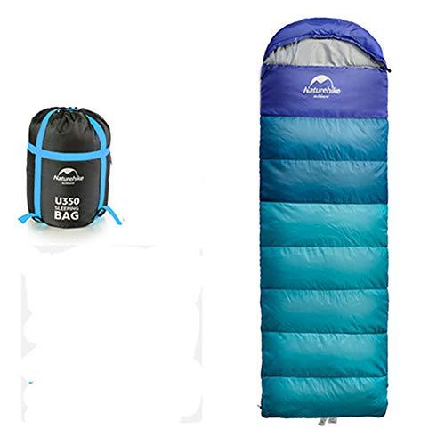 Egurs slaapzak 0-5° 4-seizoenen 190 cm outdoor slaapzak, warme spray gebonden katoen vulling, voor kamperen, reizen en outdoor
