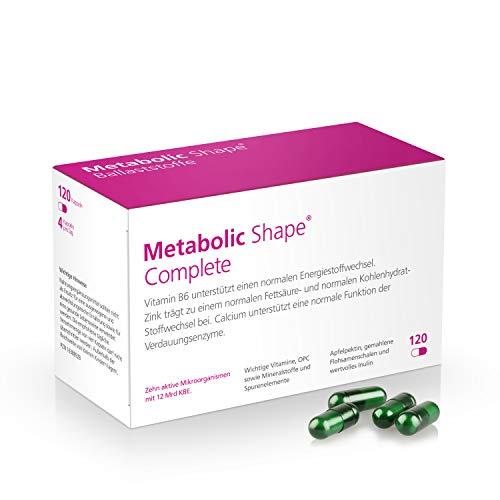 Metabolic Shape Complete - die ganzheitliche Lösung für gesundes Abnehmen, Stoffwechsel-Kur und Diät mit 12 Mrd. aktiven Darmbakterien-Kulturen + Vitamine + Ballaststoffe