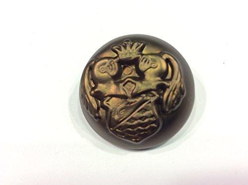 Botón Chaqueta Hombre Blazer Grifone Marrón cm 2,7