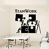 yaonuli Mapa de la Pared de la Oficina Trabajo en Equipo Creativo Trabajadores de Negocios inspirados decoración de la Oficina Pegatinas de Vinilo a Prueba de Agua Mural 93X85cm