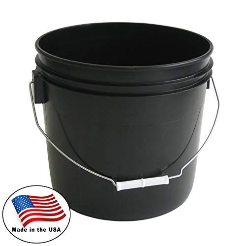 Argee 3.5 Gallon Heavy Duty Bucket, Black (Pack of 10)