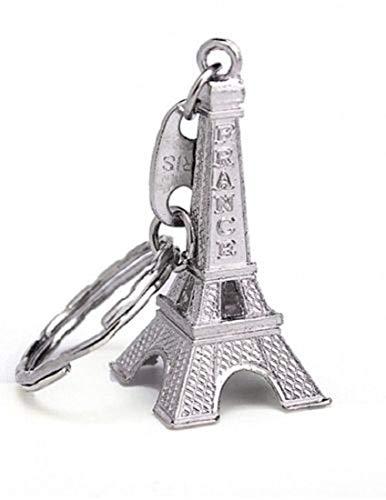 Eifelturm aus Paris Schlüsselanhänger Stadt der Liebe silberfarben 5cm Frankreich, Tower, Love, Geschenk