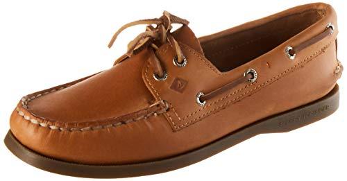 Sperry Womens A/O 2-Eye Boat Shoe, Tan, 7