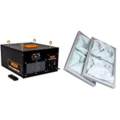 Product 1: Circulate the air in a 400 square foot room up to 7.5 times per hour Product 1: Three-speed operation flows air at a rate of 300, 350, or 400 cubic feet per minute Product 1: Includes a 1-micron filter and a 5-micron pre-filter, both of wh...