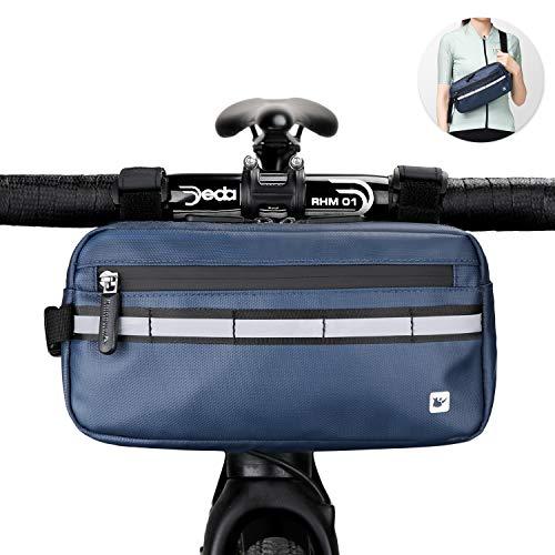 Rhinowalk Multifunction Bike Handlebar Bag Front Bag 3L Bicycle Frame Bag Waterproof Shoulder Bag Handbag Waist Bag