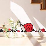 FengFang Oferta Especial Spike Adhesivos De Pared Habitación Para Niños Dormitorio Gabinete Puerta Pegatinas Vidrio Pegatinas Caracol Dibujos Animados Decoración Del Hogar Tatuajes Murales