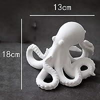 置物動物像装飾品マットホワイト素焼きタコジュエリー像家の装飾工芸品部屋の装飾オブジェクト潜水艦バイオセラミック像