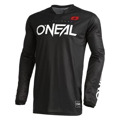 O'Neal | Camicia Motocross Manica Lunga | MX MTB Mountain Bike | Materiali Leggeri, Fori di Ventilazione Tagliati al Laser, Taglio ergonomico | Maglia Hardwear Elite Classic V.22 | Adulto | Nero | XL