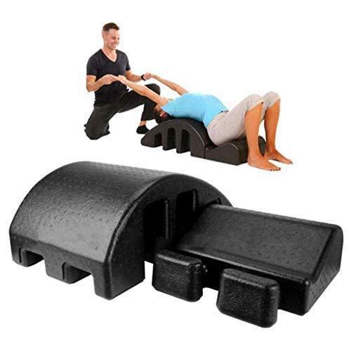 Masaje Pilates Arco Cama de Masaje Tabla Spine Pilates Arco Spine Corrector alineación Volver Alivio del Dolor, Negro