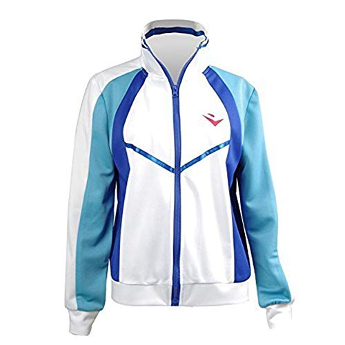 Ya-cos Free! Iwatobi Swim Club Haruka Nanase Jacket Iwatobi High School Uniform Costume,White,Large