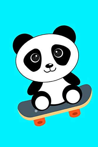 Panda Bear Skateboarding Notebook Journal 120 College Ruled Pages 6 X 9