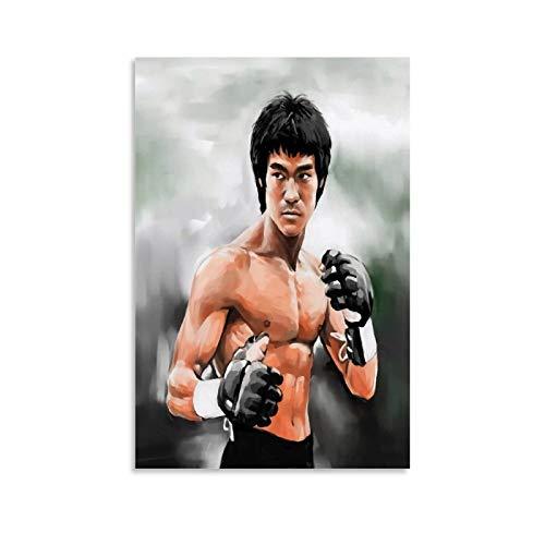 Bruce Lee Fighting Style Póster Cuadro decorativo lienzo pared sala de estar póster dormitorio pintura 20 x 30 cm
