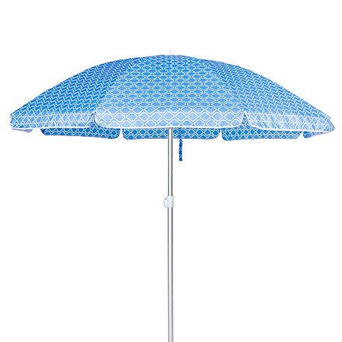 Sombrilla Playa Parasol Azul de Aluminio de Ø 220 cm - LOLAhome