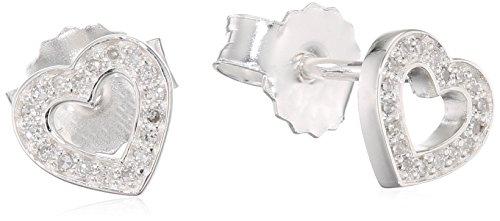 Thomas Sabo Damen-Ohrstecker 925 Sterlingsilber Diamant D_H0019-725-14