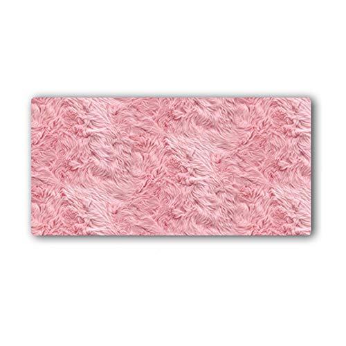 HmDco Rosa bureau-onderlegger extra grote muisonderlegger dikke slipvaste muismat, 300x800x3mm, roze