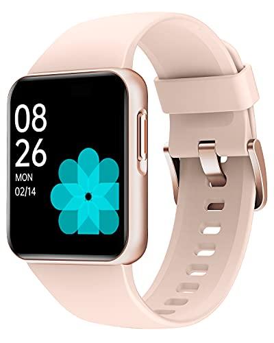 Willful Smart Watch, Reloj Inteligente con 1.4 Pulgadas Táctil Completa IP68 Impermeable, Pulsómetro, Monitor de Sueño, Control de Musica, Pronóstico del Tiempo,Pulsera Actividad para Mujer Hombre