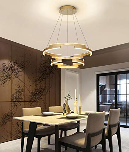 WENY Estilo Simple Moderno Anillo Araña Led Regulable con Control Remoto Luces Colgantes Aplicar para Restaurante Sala Habitación,40cm