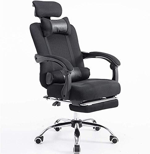 Rollsnownow Ergonomische Executive Office Chair Hoch Back Office Bürostühle Mesh-Computer Stuhl Neigungswinkel verstellbar und Flip-up Arme Big Sessel (Size : Black2)